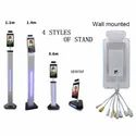 Housys Infrared Temperature Facial Recognition with Automatic Hand Sanitiser Stand Column