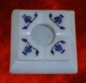 Marble White Inlay Ashtray
