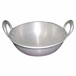 Aluminium, Steel And Iron Round Kadai, For Hospitality