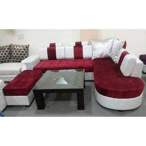 Charming Red And White Sofa