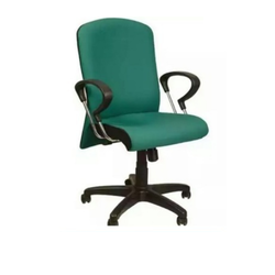 Green Leather Back Support Chair