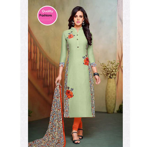 Casual Wear And Party Wear Cotton Printed Suit
