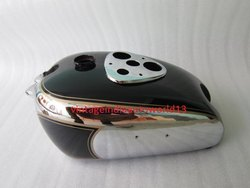 New Bsa M2021 Dlx M22 M2324 Chrome And Black Painted Petrol Tank 1938-40