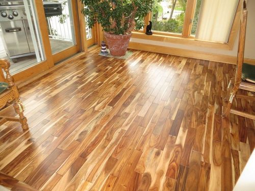 Brown Acacia Solid Wooden Flooring, For Indoor, Rs 300 /square feet Exotic  Doors & Floors | ID: 8293801530