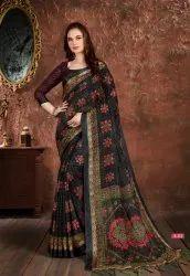 Vinamra Celebrity Green Vol 1 Cotton Satin South Indian Sarees