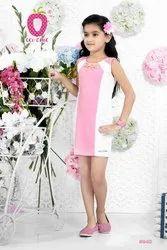 KNITED Cute Pink Festive Stylish Dress, Age Group: 3-12 Years, Size: 22-36