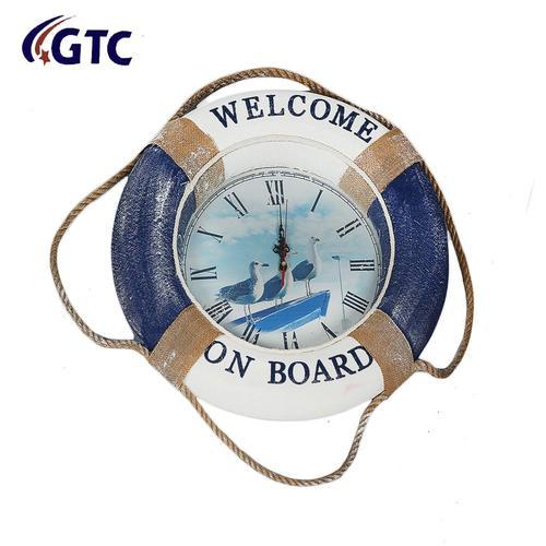 Clock Ring Blue/White Welcome Aboard  (LB2010)