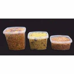 Namkeen Plastic Container, Capacity: 200 - 1000gm
