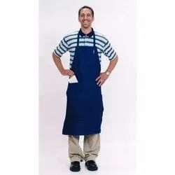 Blue Plain Industrial Cotton Apron