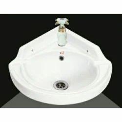 Ceramic Corner Wash Basin, For 16X16
