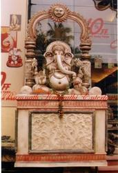 Ganesh Ji with Singhashan