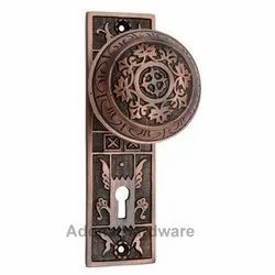 Amittai Brass Door Knob with Plate