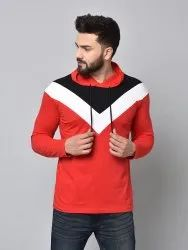 Hooded Full Sleeves Men Casual Hoodies, Machine And Hand Wash, Size: S-xxl