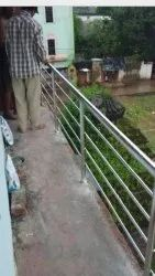 Silver Stainless Steel Railing For Balcony, For Home, Material Grade: 202
