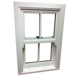 White Sliding UPVC Sash Window, Thickness Of Glass: 7 - 12 Mm, for Residential