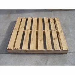 Square Rubber Wood Heat Treated Wooden Pallet, for Shipping,Warehouse, Capacity: 300 Kg - 500 Kg
