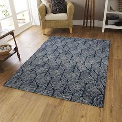 Rectangular Viscose Hand Tufted Wool Rug New Summer Collection 2018