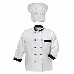 Cotton White Chef Coat With Hat, Size: S-XXL