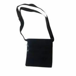 Blue Plain Denim Side Bag