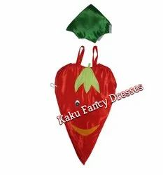 Kids Red Chilly Cutout Costume