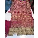 Pink Zari Work Unstitched Suit
