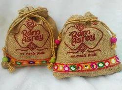 Jute Pouches for Dry Fruit Packaging