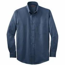 Plain Collar Neck Men Cotton Casual Shirt, Machine Wash