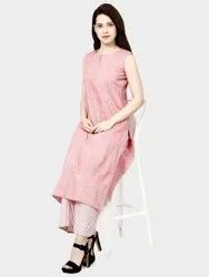 Colorful Pure Cotton Kurti With Palazzo
