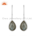 Labradorite Gemstone Designer Fine Silver Hook Earring Supplier