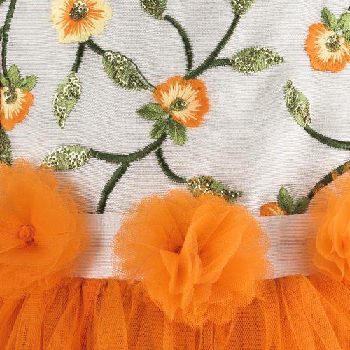 2a7a8cf2c5e04 Orange Festive Wear And Party Wear Frocks For Girls