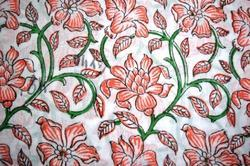 Hand Block Cotton Printed Fabric