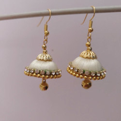 Jhumka Silk Thread Earring
