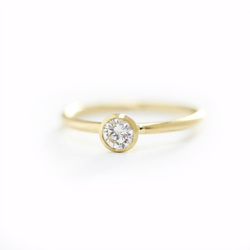 6f6e99b241080 14k Hallmark Gold 0.30 Ct Round Diamond Engagement Ring