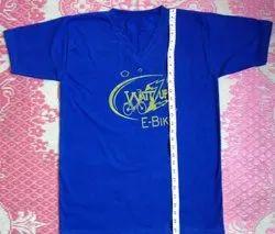 Mens Cotton T Shirt in V Neck, Size: Large