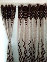 Rstc Door Curtain Pack Of 2 Pc ( Coffee Design )