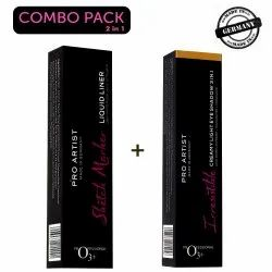 O3  Pro Artist Sketch Marker Liquid Eye Liner And Irresistible Creamy Eye Shadow Combo Kit For Party