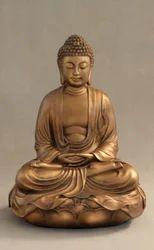 Golden Handmade Brass Meditation Dragon without Base Buddha Statue