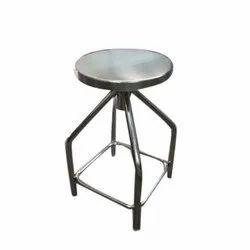Round Polished Stainless Steel Revolving Stool for Hospital
