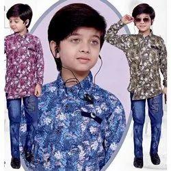 Boys Casual Wear Jeans Pant Shirt Set
