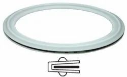 PTFE Envelope Ring Gasket, Round, Thickness: 10 Mm-45 Mm