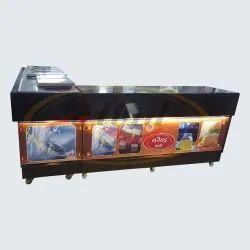黑乳制品柜台花岗岩模型,用于商业
