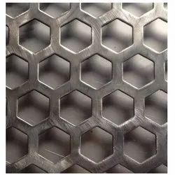 Hexagonal Hole Perforated Sheets