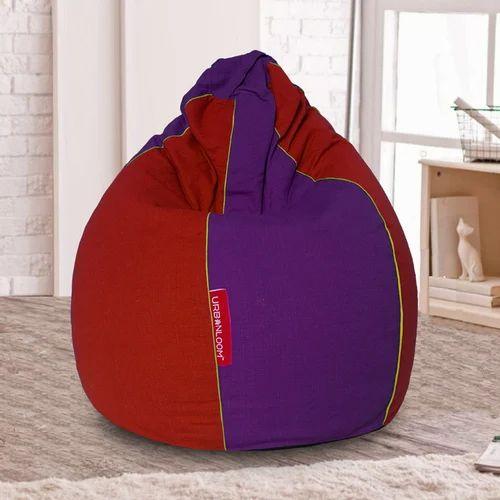 Stupendous Organic Cotton Khadi Bean Bag Cover Red Purple Xxxl Xxl Xl Dailytribune Chair Design For Home Dailytribuneorg
