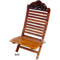 Wooden Folding Chair, Height: 15 Inch