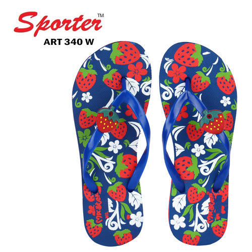 Women Sporter Rubber Multicolor Slipper