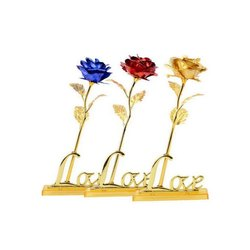 Golden Foil Gold Plated Rose With A Gift Box, Size/Dimension: 25 X 10 X 5 Cm
