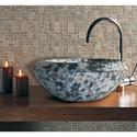 Black Mother Of Pearl Wash Basin