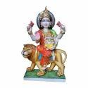 Marble Painted Durga Statue