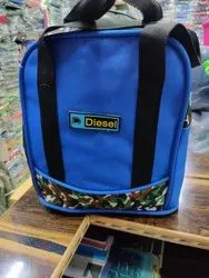 Blue and Black Lunch Bag