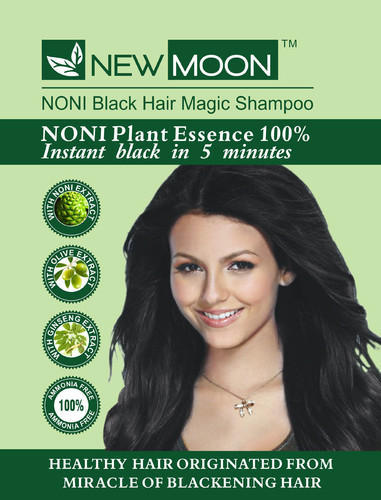 New Moon Black Herbal Hair Color Shampoo, Pack Size: 15 ml, Rs 15 ...